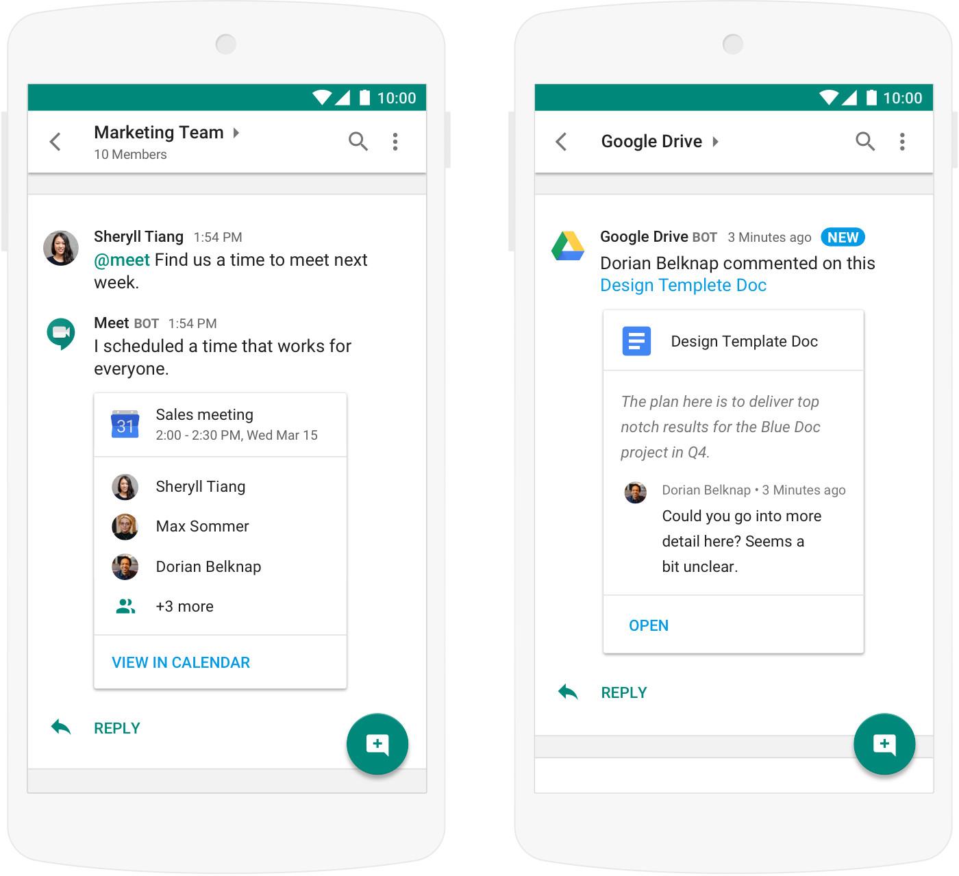 Le Slack de Google passe à l'échelle — Hangouts Chat