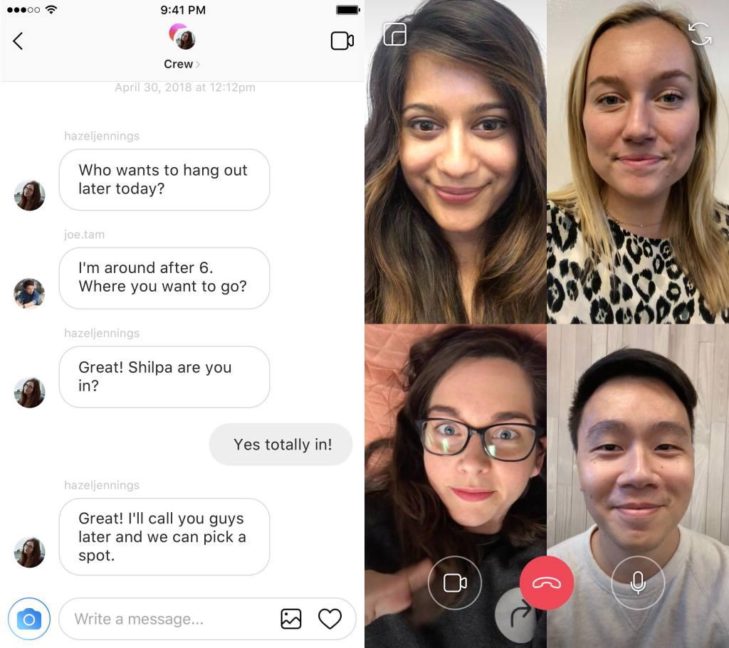 Facebook annonce l'arrivée du chat vidéo en groupe — WhatsApp et Instagram
