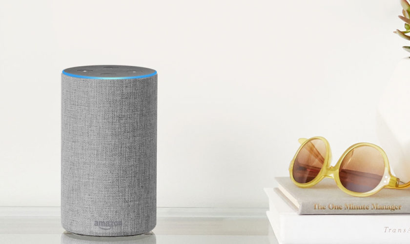 Amazon Echo (2ème génération), Enceinte connectée avec Alexa, Tissu gris chiné