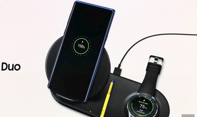 Chargeur sans fil Samsung Duo Noir Chargeur pour téléphone
