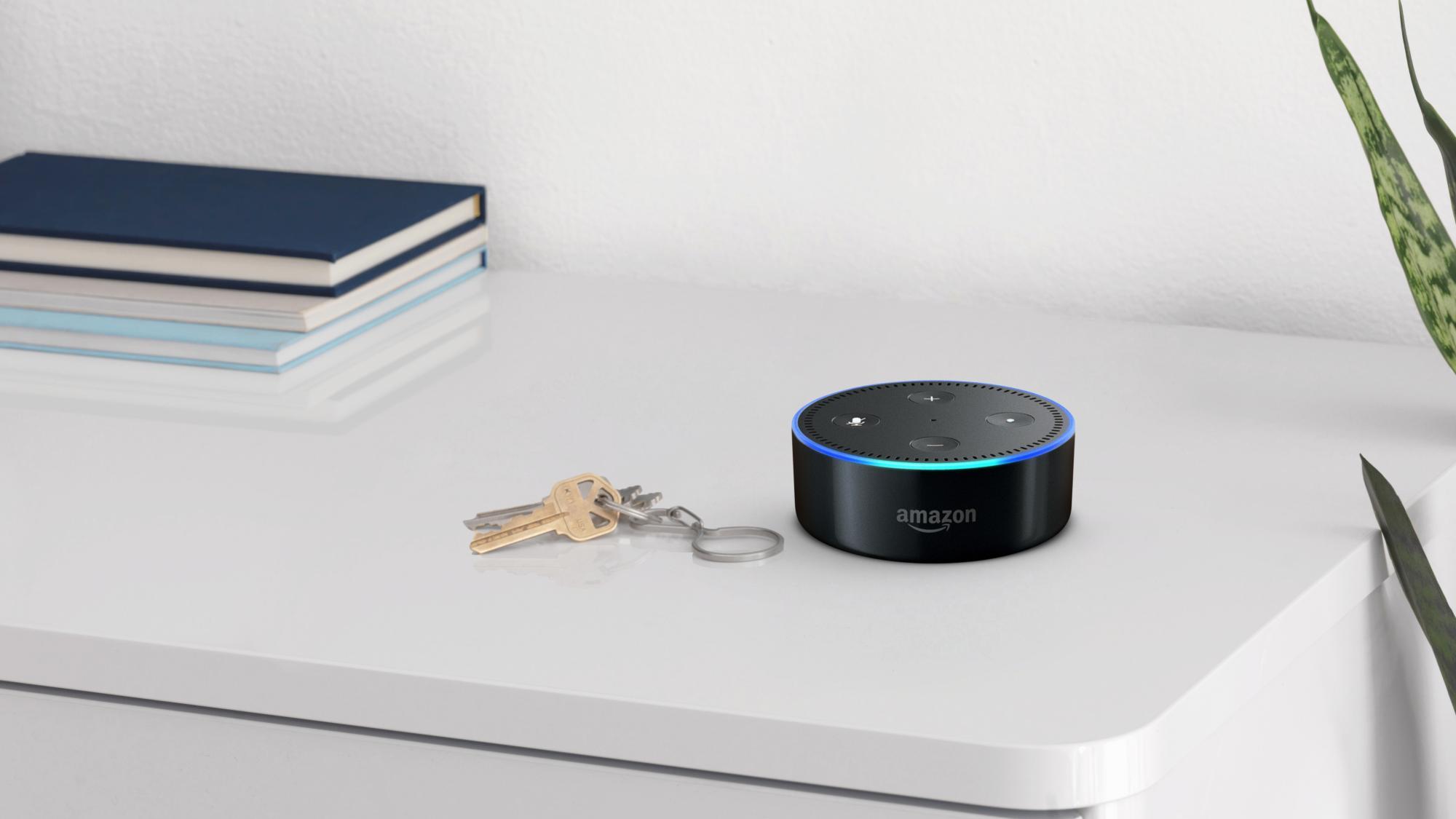 Amazon Echo Spot, Réveil connecté avec Alexa, Noir