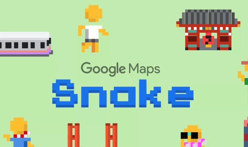 Jouez à Snake sur Google Maps — Poisson d'Avril