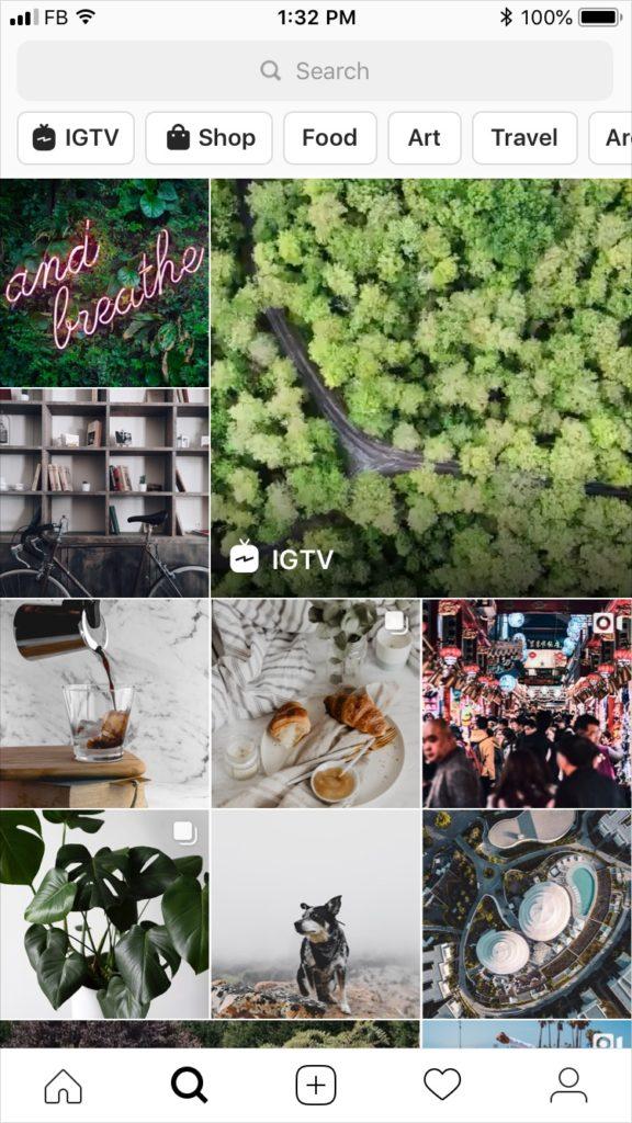 Instagram étend son onglet Explore avec les Stories, IGTV et