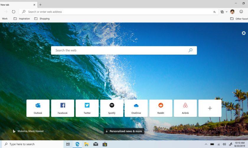 Navigateur - Microsoft Edge Chromium disponible au téléchargement