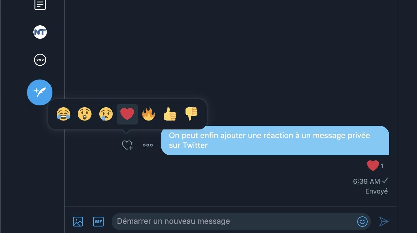 Comment Ajouter Une Reaction En Emoji Dans Un Message Prive Dm De Twitter