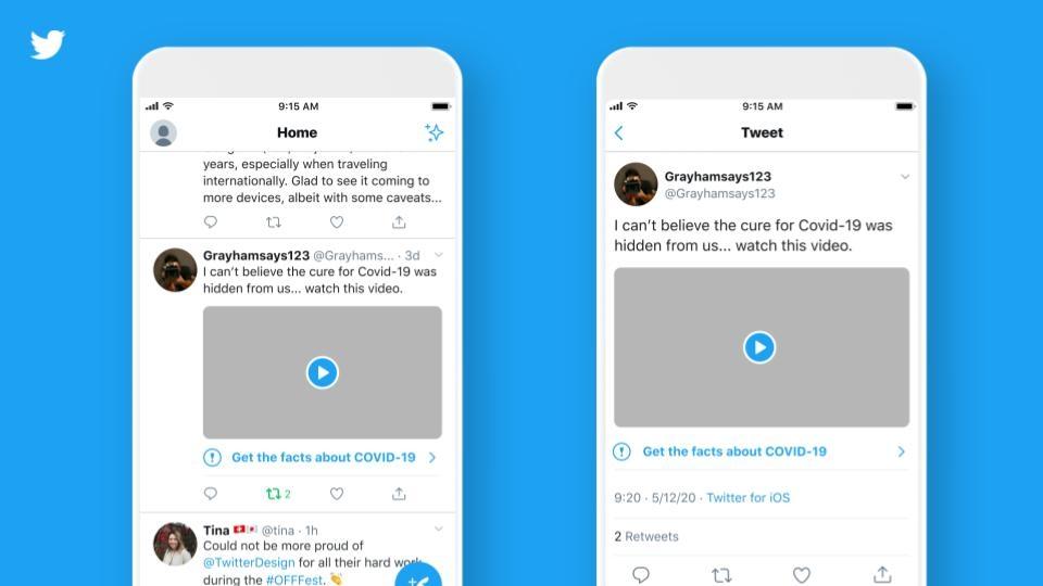 Twitter durcit ses règles contre la désinformation liée au coronavirus