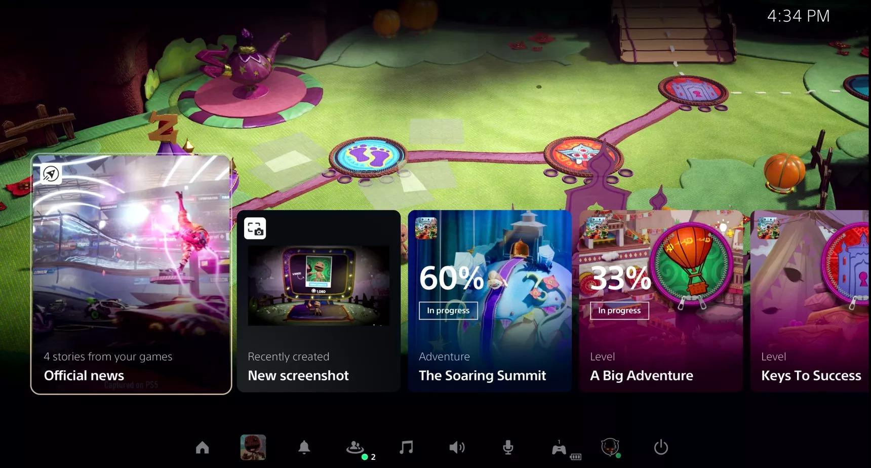 PS5 : l'interface se dévoile dans une vidéo officielle de Sony
